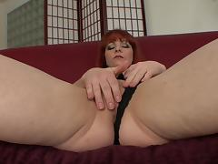 Masturbating Kylie Ireland Receives Doggystyle Pound