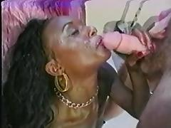 Vintage IR - Ebony loves white cock