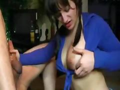 Blowing and licking asshole
