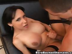 Shemale Getting A Good Suck and Good Bareback Fuck