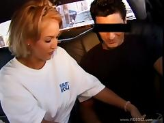 Car fucking scene along babe giving superb handjob and shows pussy