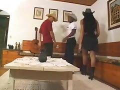 Cowgirl Shemale Slut Carla Fael Threesome