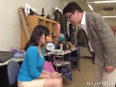 Adorable Japanese cowgirl orgasms after getting fingered then slammed hardcore