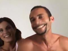 Cute dilettante 1st timer takes monster cuban pecker