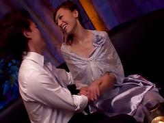 Aino Kishi favours a guy with a blowjob and a rimjob