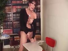 Drag Queen Teacher Jerking Off