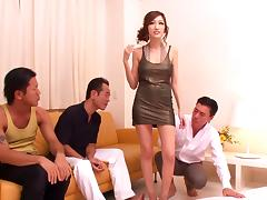 Breath-taking gangbang sex scene with big-breasted Asian Julia