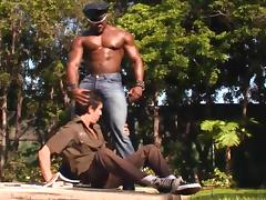 Horny Black Police Officer Fucks A Naughty Stud Anal Hardcore