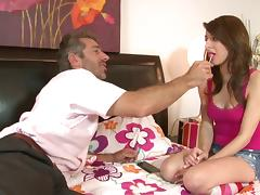 Lexi Bloom wears knee high socks as she gets drilled hard