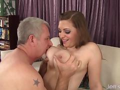 Big Boobed Jessica Roberts takes cock