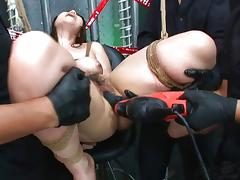 Bound, Asian, Banging, Big Tits, Blowjob, Bondage