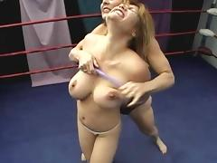 Wrestling, Catfight, Wrestling, Tits, Fight