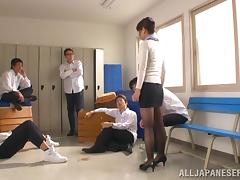 Nao Mizuki shaved pussy gets pounded with a naughty and hot horny stud
