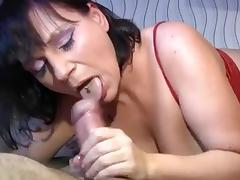 Mature BBW Nadine gets two dicks at the same time