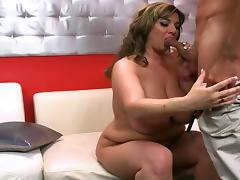 Kinky BBW Alix shows off and fucks in the VIP room