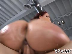 Gentle oral pleasure and hot sex scene