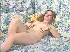 Fabulous solo model fisting her pussy while masturbating close up
