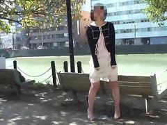 Close Up Public Jap Panty Wetting