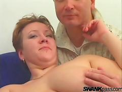 A horny BBW gets her fat pussy pounded into next week