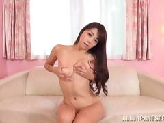 Japanese babe Marina Matsumoto uses her vibrator to cum