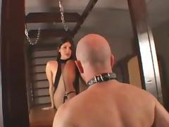 Jade Indica steps on guys face in stocking while exploring femdom