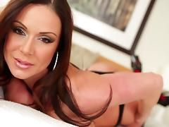 Zesty brunette gets her face fucked hardcore in a close up pov shoot