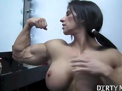 Acrobatic, Big Tits, Boobs, Brunette, Cunt, Masturbation