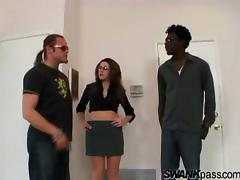 Isabella Soprano gets cum on tits after handling big black cock hardcore