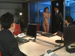 Hardcore sex and a hot facial with the Japanese office girl