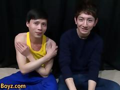 Japanese twinks gobble