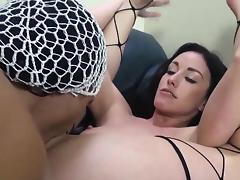 Pornstar fucks black cock