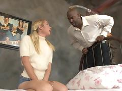 Pigtail, Blonde, Couple, Fucking, Hardcore, Interracial