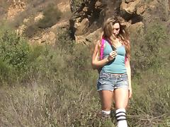 A naughty coed in shorts hooks up with her hung professor