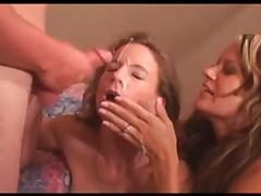 Amateur cum sharing milfs