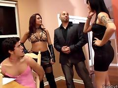 Mistress, Ass Licking, Femdom, Group, HD, Mistress