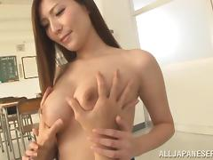 students grabs his teacher's tits