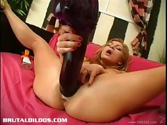 Hardcore dildo banging with a naughty and horny hot ass chick
