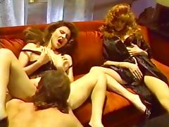 Jacqueline, Leanna Foxxx, Steve Drake in lesbian sex and a threesome from hot porno 1980