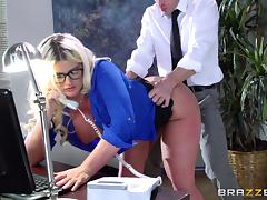 Secretary, Couple, Glasses, Hardcore, Office, Penis