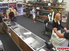 Sexy milf fucked by pervert pawnkeeper at the pawnshop