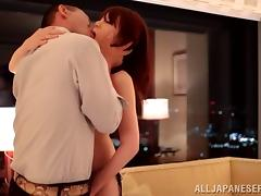 A hairy Asian girl gets a rimjob and gets banged into next week