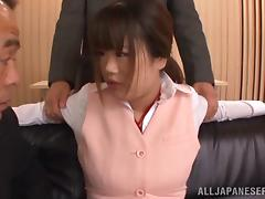 Miniskirt, Asian, Big Tits, Blowjob, Doggystyle, Handjob