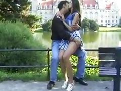 Public Anal Sex With Beauty In Stockings