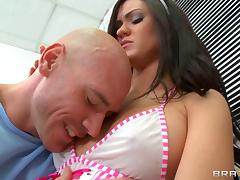Cute candy striper Kendall Karson gives hospital patient a good fuck
