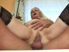 Fat Blonde Granny German