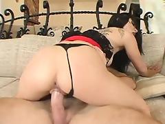Rough fucked black raven gets her ass ravaged