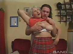Flirty mature amateur takes a big cock up her hairy cunt hardcore