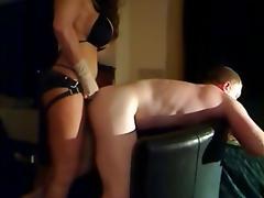 Busty Milf Strap On Fucks Slave