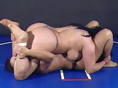 Wrestling, BBW, Catfight, Wrestling, Fight