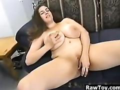 BBW With Big Tits From Britain Masturbating